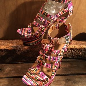 Multicolored Dollhouse heels.